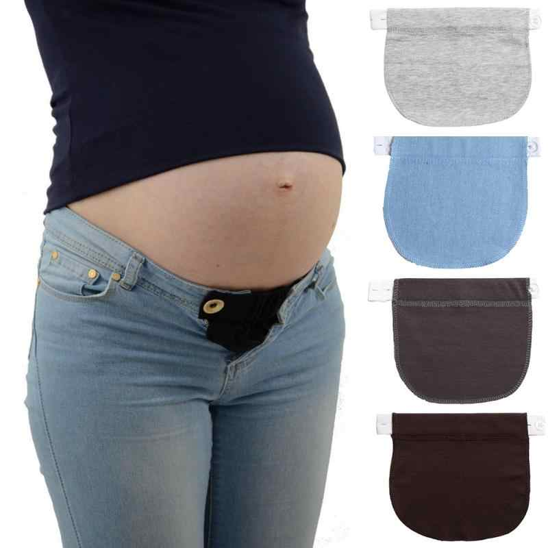 Pregnant Women's Belt Extension Buckle Maternity Waistband Elastic Extender Soft Pants Pregnancy Adjustable Waist