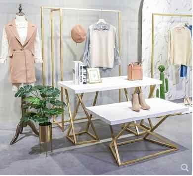 Clothes Shop Window Decoration Props Creative Women S Clothing Store Floor To Floor Display Shoe Bag Rack Aliexpress