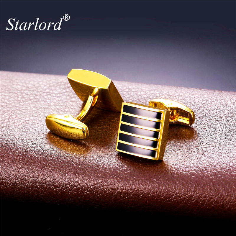 Starlord Brand Cufflinks For Men High Quality Gold Color Metal Cuff Buttons Wedding Cuff Link Men Gemelos C2112