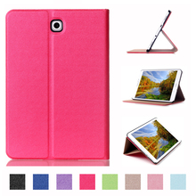 Smart Sleep PU Leather Case For Samsung Galaxy Tab S2 9.7 SM-T810 T815 Stand Folio Flip Shell Cover Case+Film+Stylus Pen