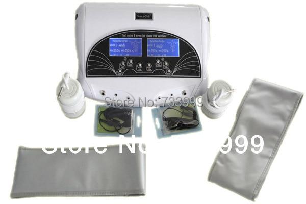 Máquina detox para limpeza de íon, spa, detox duplo, para duas pessoas, ao mesmo tempo, com dois grandes display tela de tela