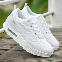 2019 spring new trend wild ladies casual sneakers shoes simple increase air cushion rocking female large size 35-43