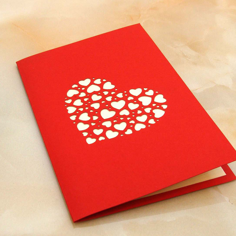 5pcs love you postcard festival business greeting cards ...