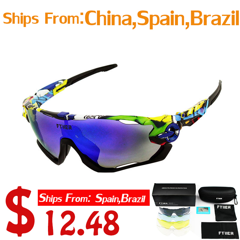 f7471acf9541 5 Lens Polarized Cycling Glasses Bike Outdoor Sports Bicycle Sunglasses For  Men Women Goggles Eyewear-in Cycling Eyewear from Sports & Entertainment