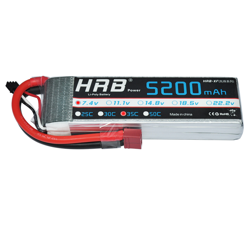 HRB RC Lipo 2S Battery 7.4V 5200mAh 35C MAX 70C 2S1P Drone Akku RC Bateria For Helicopter Boat Car Quadcopter Airplane UAV FPV gdszhs rechargeable 3s lipo battery 11 1v 2200mah 25c 30c for fpv rc helicopter car boat drone quadcopter page 1