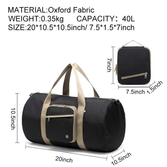 ba61104c56 placeholder YESO Large Capacity Travel Bag Waterproof Travel Duffle Folding  Tote Bag Unisex Hand Luggage Handbag Nylon