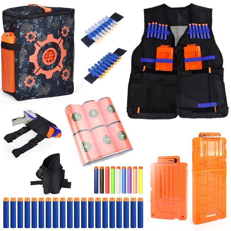 Tactical Equipment Gun Shuttle Soft Bullet Magazine for Nerf Gun Accessories Bullet Clip ...