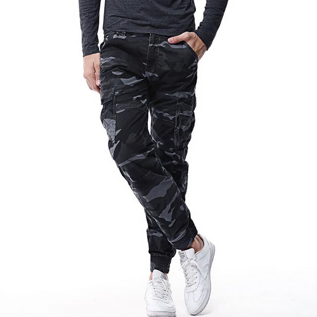 High Grade Elastic Cargo Skinny Pants