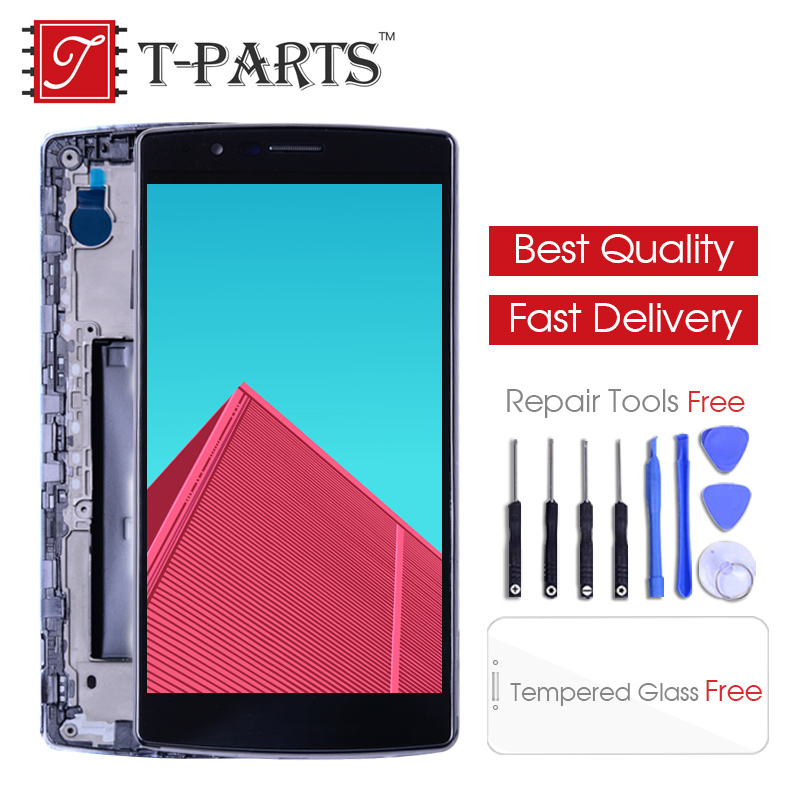 Single SIM 5.5 ORIGINAL Display for LG G4 LCD H815 Display Touch Screen with Frame for LG G4 LCD Replacment H810 H811