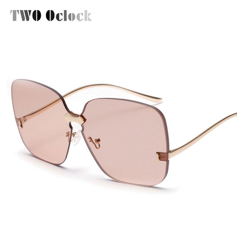 TWO Oclock 2018 Oversized Square Sunglasses Women Luxury Brand Designer Brown Sun Glasses Female Vintage Shades Eyewear 881386