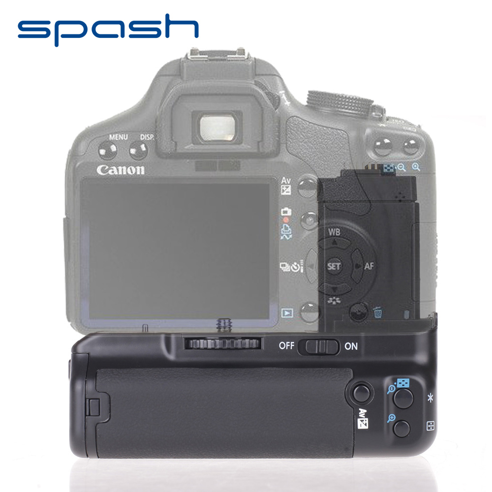 spash Multi-power Vertical Battery Grip for Canon EOS 450D 500D 1000D T1i XS XSi Replacement BG-E5 Camera Battery Holder цена