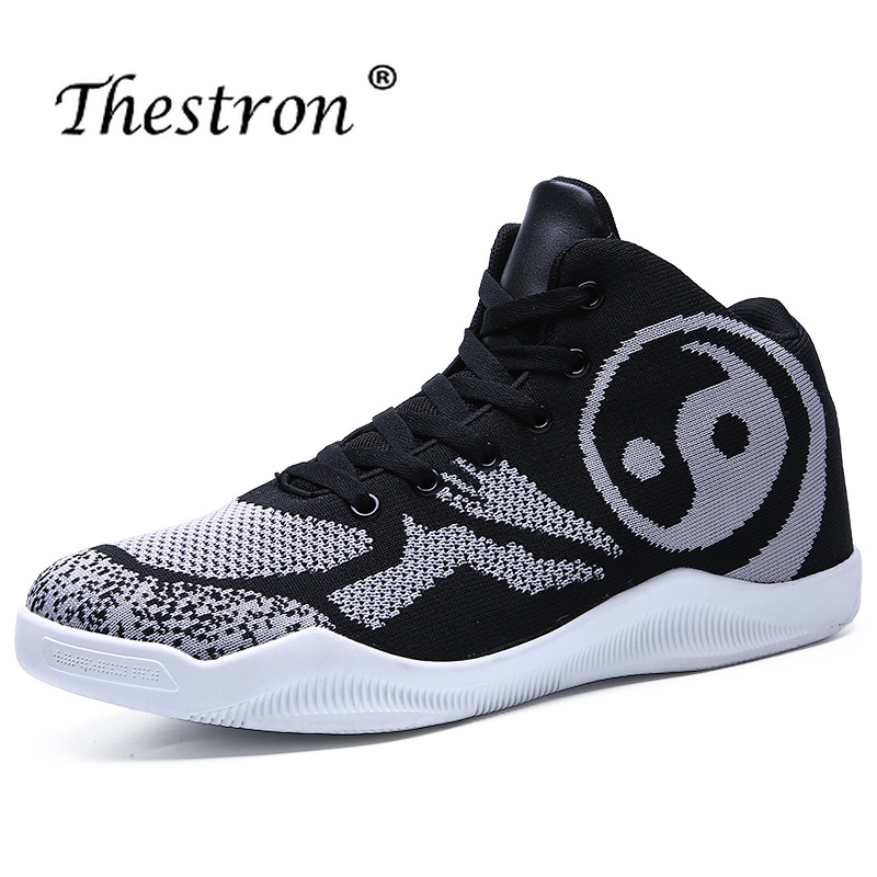 Nouveaux hommes baskets de basket-ball bleu vert garçon chaussures de formation confortable hommes chaussures de Sport basket-ball anti-dérapant haut hommes chaussures