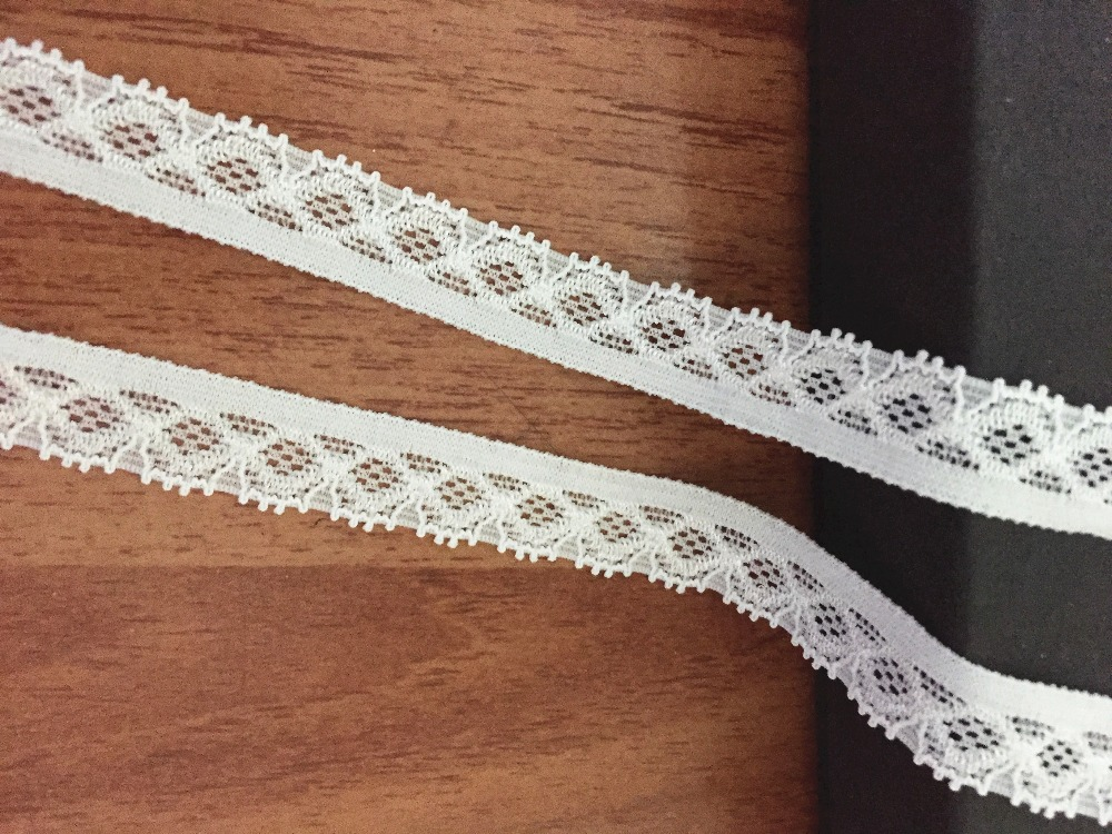 "5 YARDS black double  scalloped stretch lace trim 2 1//4/"" w doll S3-10 US SHIPPER"