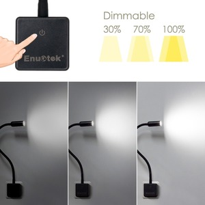 Image 2 - Plug In Dimmable LED Wall Spot Light Flexible LED Reading Spot Lamp with Power Socket Plug Natural White Lighting Normal Version