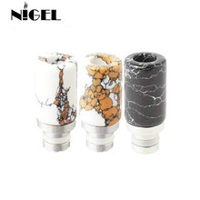 Jade Stone Drip Tip 510 Drip Tips Mouth Pieces Healthy Jade Drip Tips for e cigs 510 RDA RBA atomiz 510 glass and ss drip tip