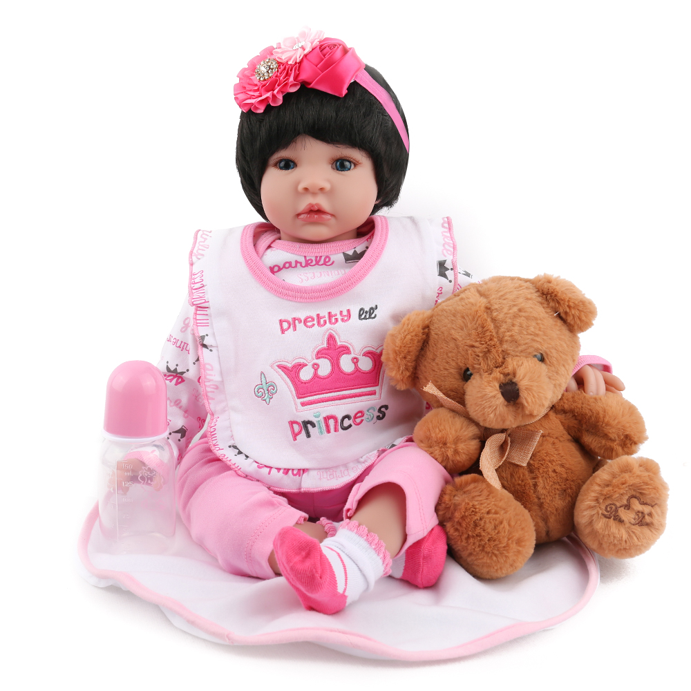 KAYDORA 22Inch 55cm Vinyl Silicone Reborn Baby Alive Dolls Adorable Lifelike Toddler Cloth Body Kids Birthday Christmas Gift