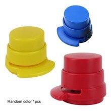Степлер без степлера, мини пластиковый степлер, Бумажный Переплет, скрепляющий бумажный зажим, домашний скоросшиватель для бумаг, Прямая