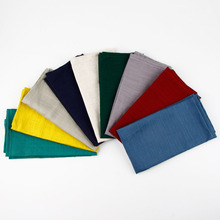 9 Colours 40 x 30 cm slub linen cotton Napkins heat insulation mat dining table mat Kids table Napkin fabric placemats