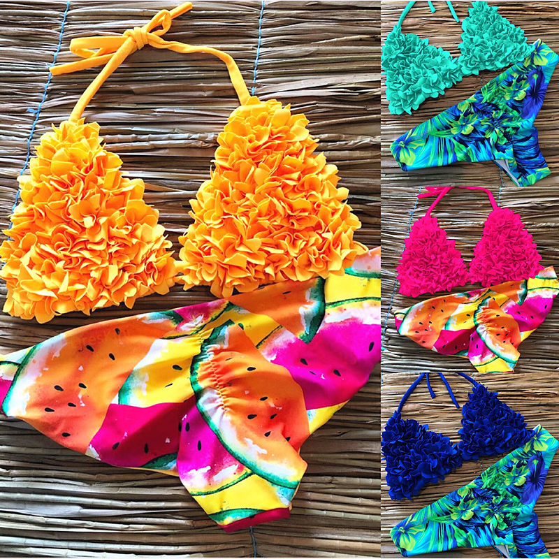 Women New Print Bikini Set Push Up Swimwear Brazil Biquni Sexy Tropical Beachwear Swimsuit Women New Bikini Bathing Swimwear