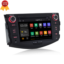 HD 7″ Capacitive Touch Screen Quad Core Android 4.4.4 Car DVD Player GPS Navigation For Toyota RAV4 2006 2007 2008 2009 2010