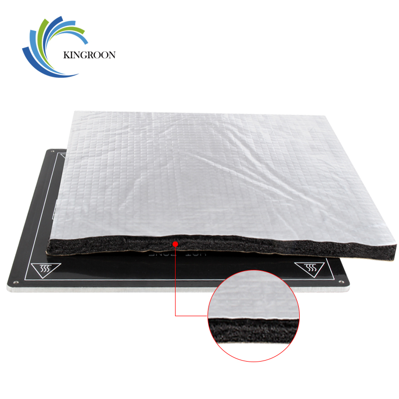 200x200/220x220/235x235/310x310mm Hot Plate Foil Self-adhesive Pad Heating Bed Sticker Heat Insulation Cotton 3D Printer Parts