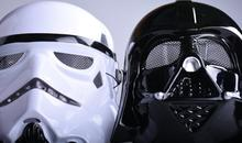 Black White Star Wars Darth Vader pełna maska do twarzy Deluxe Halloween superhero Theme party Cosplay maska Masquerade kostium Supply tanie tanio Costumes Dorosłych Unisex Masks Superhero Sci-Fi kostiumy Plastikowe Dorośli świąteczne prezenty dla dzieci Clone Trooper Cosplay żołnierze pełna twarz