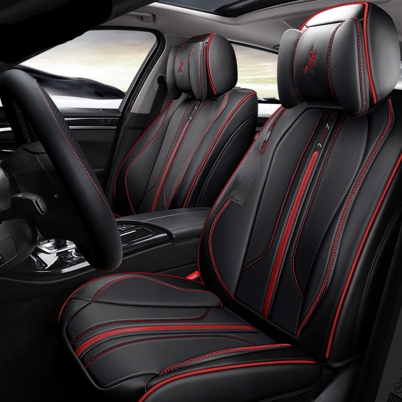 3D Full Surround Design Car Seat Covers Leather Cushions For Volkswagen Beetle CC Eos Golf Jetta Passat Tiguan Touareg Sharan customization car seat cover general cushion artificial leather car pad car styling for volkswagen beetle cc eos golf jetta pass