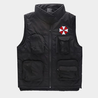 Resident Evil Biohazard Umbrella Logo Anime Cosplay Fleece Vest