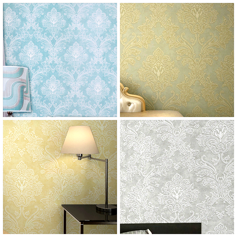 Classical Victorian Damask Pattern Wallpaper For Walls Flocking Non ...