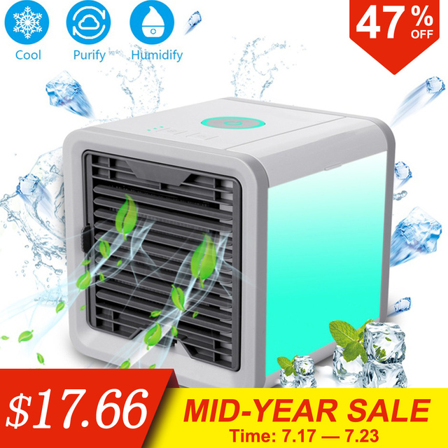Mini USB Portable Air Conditioner Conditioning Humidifier Purifier 7 Colors Light Desktop Arctic Air Cooler Fan For Home Office