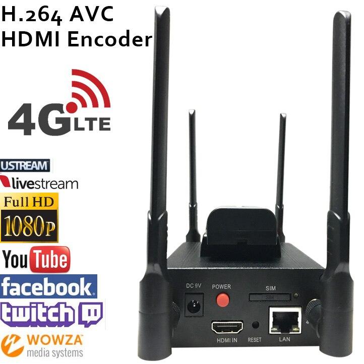 ESZYM MPEG-4 AVC/H.264 4g LTE HDMI Encodeur Vidéo HDMI Émetteur Diffusion en direct codeur sans fil H264 iptv codeur