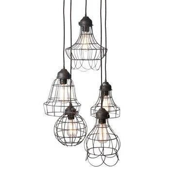 American iron cage pendant light iron restaurant loft Bar Cafe individuality retro industrial hanging light