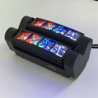 2pcs New Coming 55W Mini LED Moving Head Light 8x6W RGBW DMX Disco Equipment Professional Led