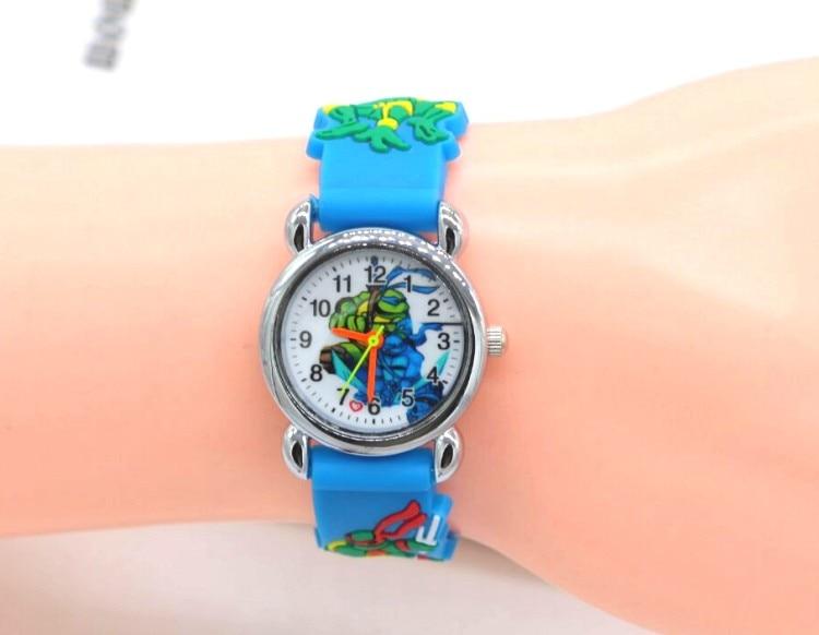 1pcs/lot Wholesale NEW Cartoon 3D Children Watch Good Gift kids Teenage mutant ninja turtles watch