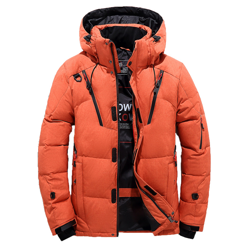 Winter Duck   Down   Jacket Men Fur Collar Jacket Men Thick Warm Mens White Duck   Down     Coat   Jaqueta Masculina 220wy