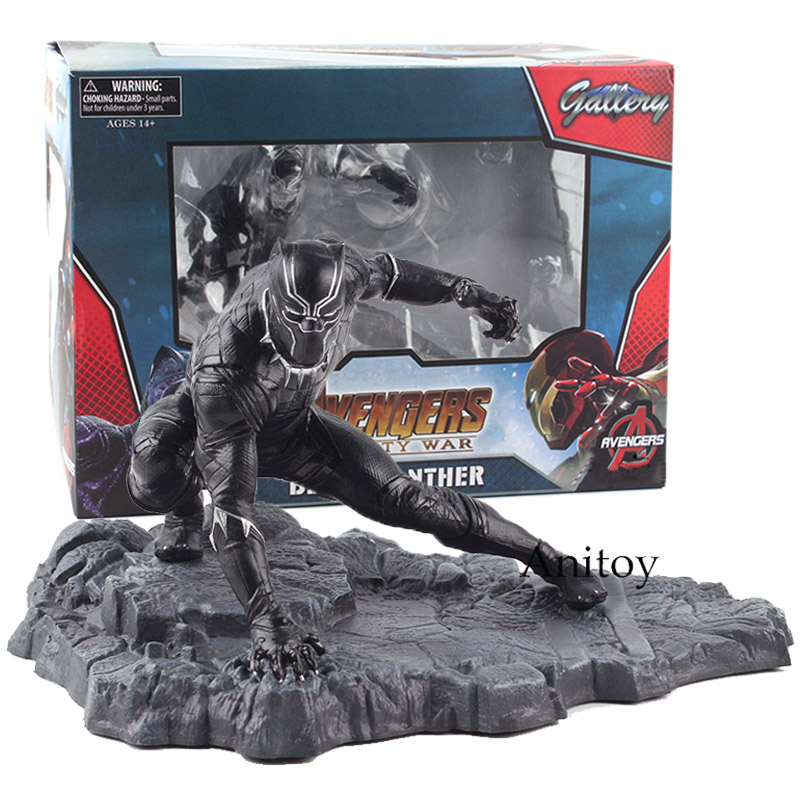 Marvel Avengers Infinity War Black Panther Action Figure PVC Figure Collectible Model Toy 12cm KT4784 все цены
