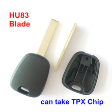 25pcs/lot For Peugeot Transponder Key Blank With HU83 Blade Without