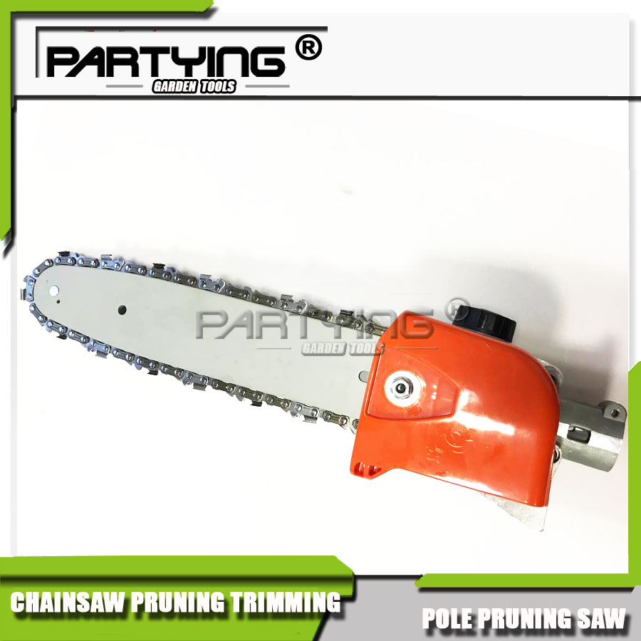 26*9T Partying Gasoline power long reach high pruner saw head,saws blades, pole pruning chain saw tool machine head bosi fresh leaves quick pruner 8 200mm curved by pass pruner shear