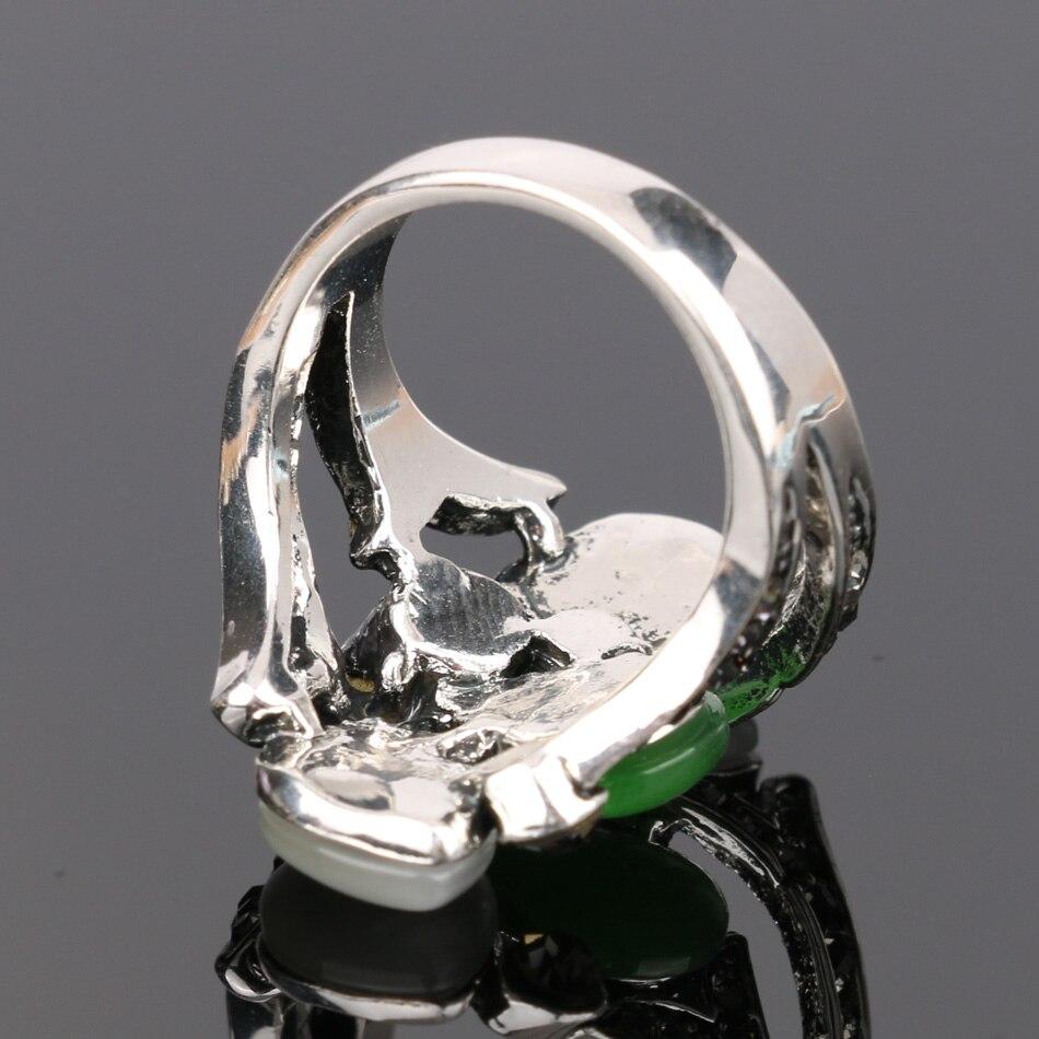 Kinel Vintage Kristall Anel Schmuck Opale Eheringe für Frauen Silber - Modeschmuck - Foto 5