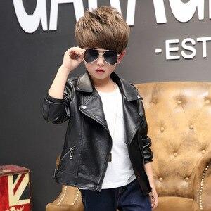 Image 4 - 브랜드 패션 아동 코트 방수 아기 소녀 소년 가죽 자켓 3 14 세 어린이 복장