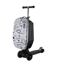 Letrend New Fashion British Style Skateboard Rolling Luggage 21inch Business Men Trolley Suitcases Student Travel Bag Trunk