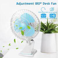 AUGIENB 220V 180 Grad Einstellbar Mini Desktop Fan High-Speed Air Schreibtisch und Clip Auf Lüfter Mit Lüfter kopf Clamp Für Schlafsaal Büro