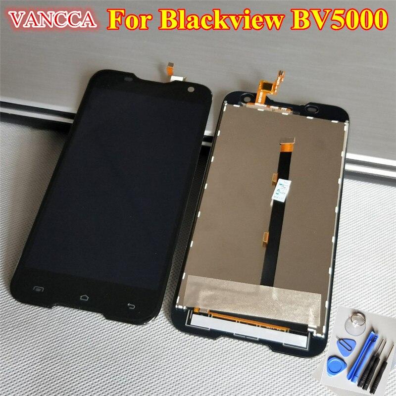 imágenes para 100% la Mejor calidad de LCD Display + Touch Screen Asamblea de Cristal Digitalizador Reemplazo Para Blackview BV5000