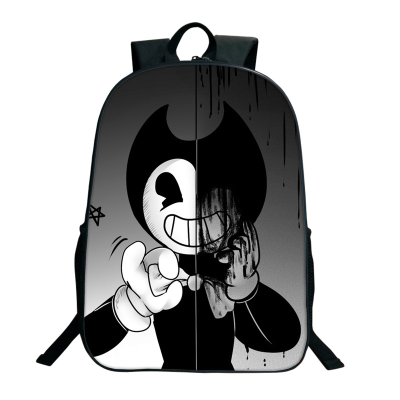 Backpack The-Ink-Machine Bendy School-Gifts Student Cartoon Mochila New And