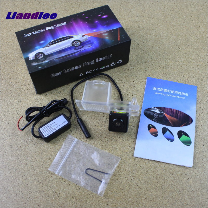 Liandlee Anti Collision Laser Lights For SsangYong Korando 2010~2016 Car Prevent Mist Fog Lamps Anti Haze Warning Rear Light car tracing cauda laser light for volkswagen vw jetta mk6 bora 2010 2014 special anti fog lamps rear anti collision lights