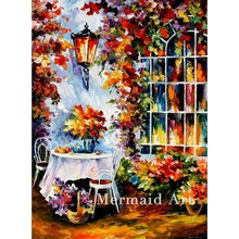 Hand Painted In The Garden Landscape Abstract Palette Knife Modern Oil Painting Canvas Wall Living Room Artwork Fine Art