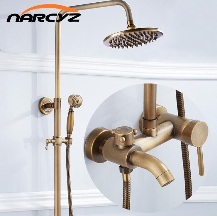 De style européen rétro trois-vitesse rapide-libération de douche douche complète de cuivre antique douche douche ensemble XT303