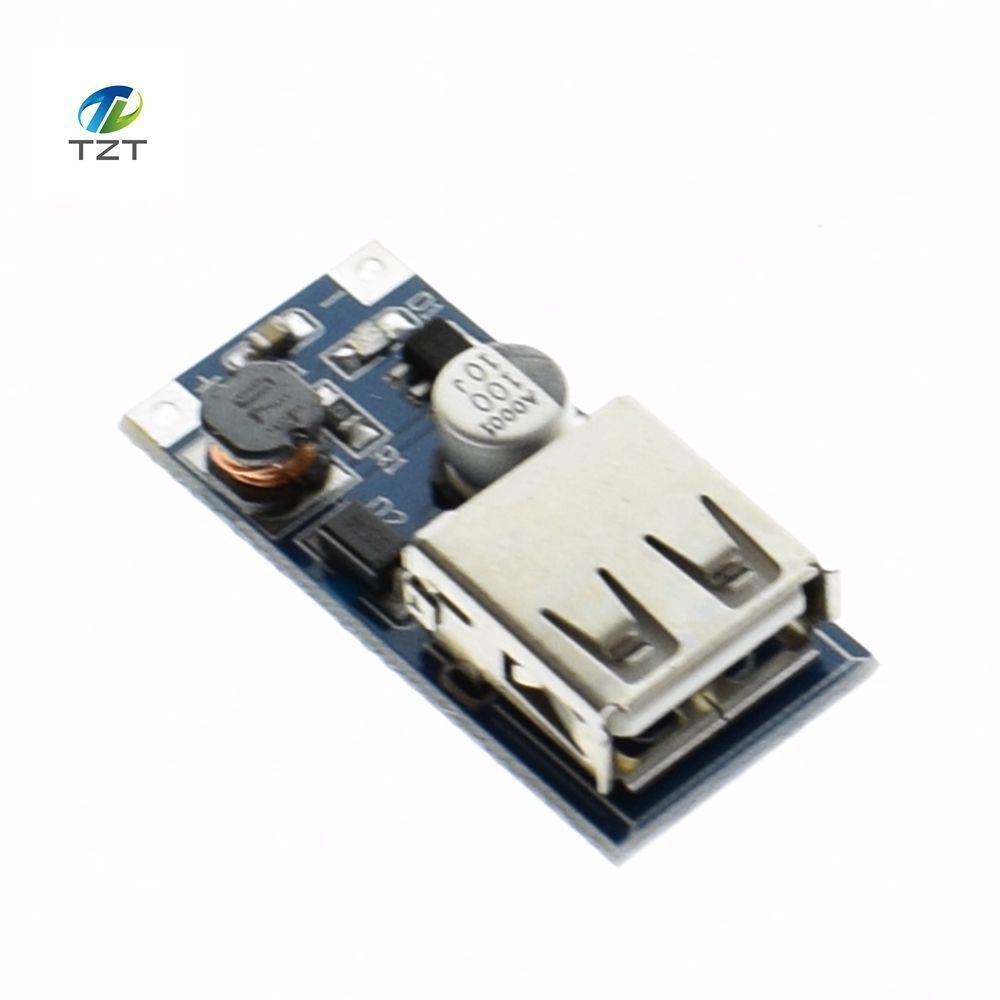 1PCS TZT DC-DC USB Output charger step up Power Boost Module 0.9V ~ 5V to 5V 600MA USB Mobile Power Boost Board blue ...
