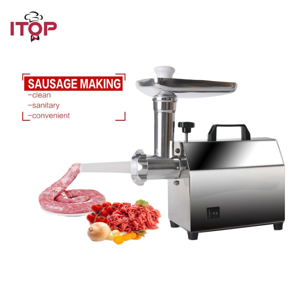 ITOP Krachtige Home Elektrische Vleesmolen Worst Stuffer Rvs Mincer Maker Vlees Vis Cutter Snijmachine-in Vleesmolen van Huishoudelijk Apparatuur op  Groep 1