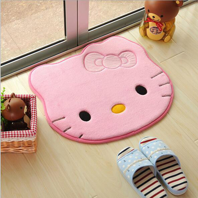 51 57cm Cute Bath Mats Hello Kitty Memory Foam Bathroom Rug Non Slip